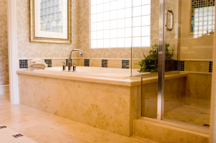 A newly remodeled bathroom with a modern design.